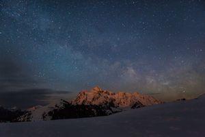Фото бесплатно пейзаж, ночь, галактика