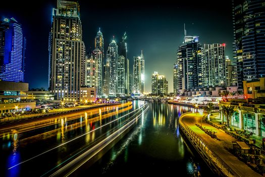 Photo free Dubai Marina, UAE, city
