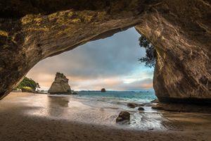 Фото бесплатно пейзаж, арка, пещера