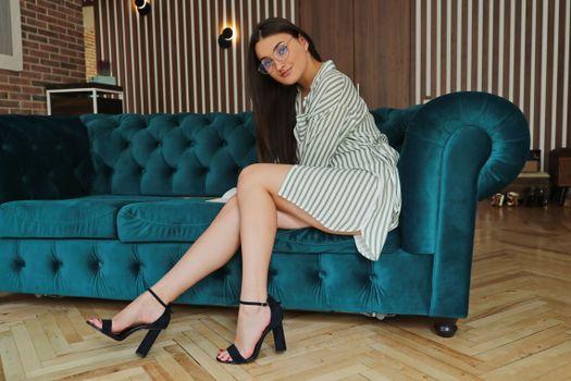 Photo free brunette, legs, adult model