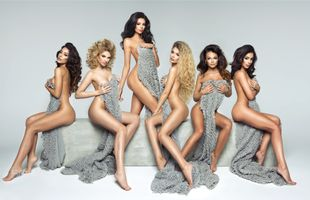 Beauty models close their sights