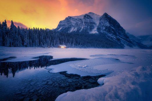 Фото бесплатно зима, пейзаж, Lake Louise