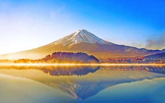 Фото бесплатно Фудзи гора, восход, утро