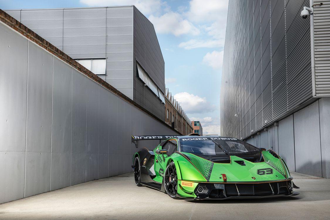 Фото автомобиль Lamborghini зеленый - бесплатные картинки на Fonwall