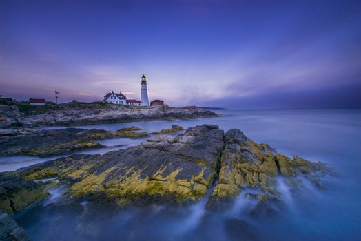 Photo free Cape Elizabeth Lighthouse, the lighthouse of Cape ElizabethMaine, USA