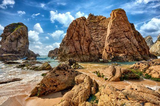 Фото бесплатно скалы, прибрежный португальский, Португалия