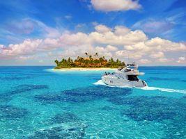 Фото бесплатно тропики, море, остров, яхта, пляж