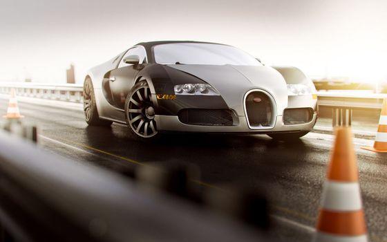 Photo free Bugatti, front view, supercar