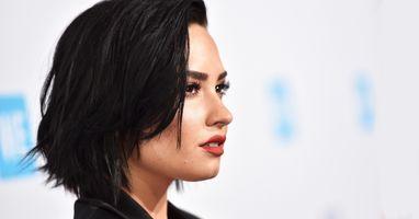 Photo free Demi Lovato, singer, profile view