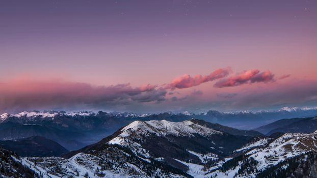 Фото бесплатно небо, ночь, снег