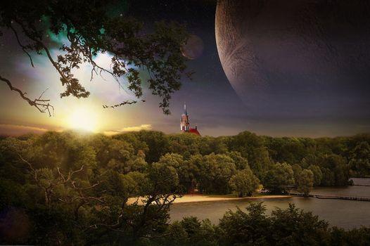 Фото бесплатно Нойбранденбург, Германия, закат