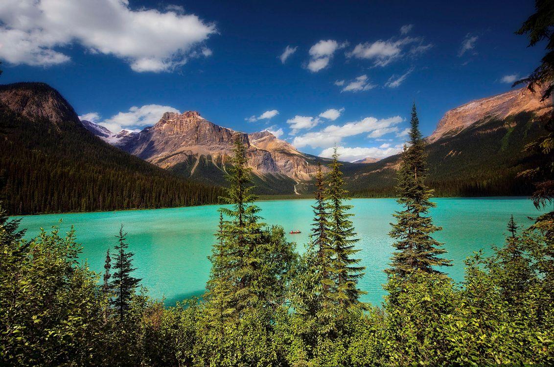 Фото бесплатно изумруд озеро, Канада, Британская Колумбия, Йохо национальный парк, emerald lake, пейзажи