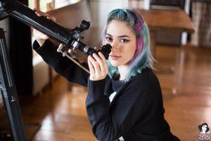 Бесплатные фото Sivir Suicide Girls,модель,женщины,телескоп,синие волосы,розовые волосы,model