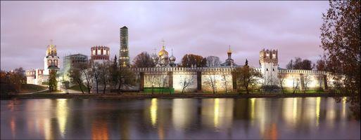 Бесплатные фото Новодевичий монастырь,Богородице-Смоленский монастырь,Москва,Россия,панорама