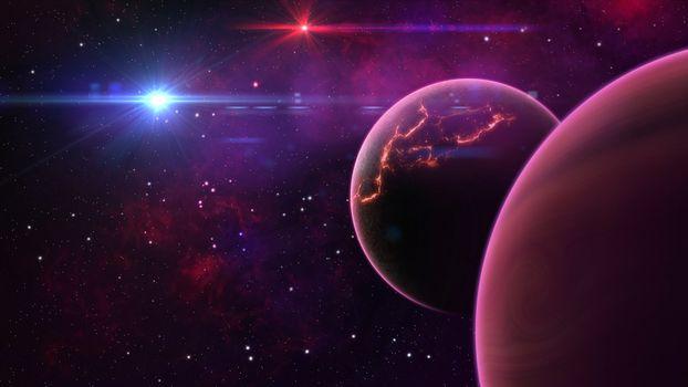 Фото бесплатно Digital Universe, цифровое искусство, космос