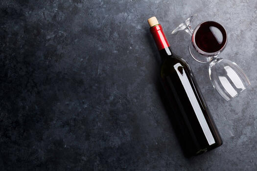 Photo free red wine, drinks, a glass