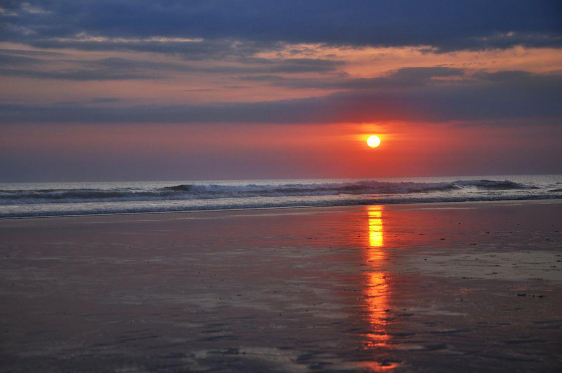 Фото бесплатно утро, пляж, закат - на рабочий стол