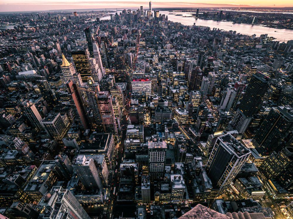 Нью-Йорк с высоты · бесплатное фото