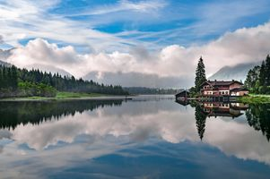 Заставки озеро, размышления, небо