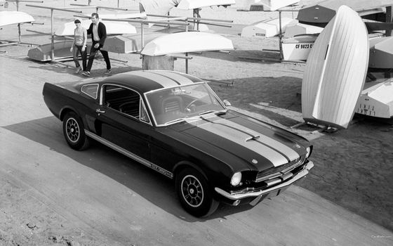 Photo free monochrome, car, Ford Mustang Shelby
