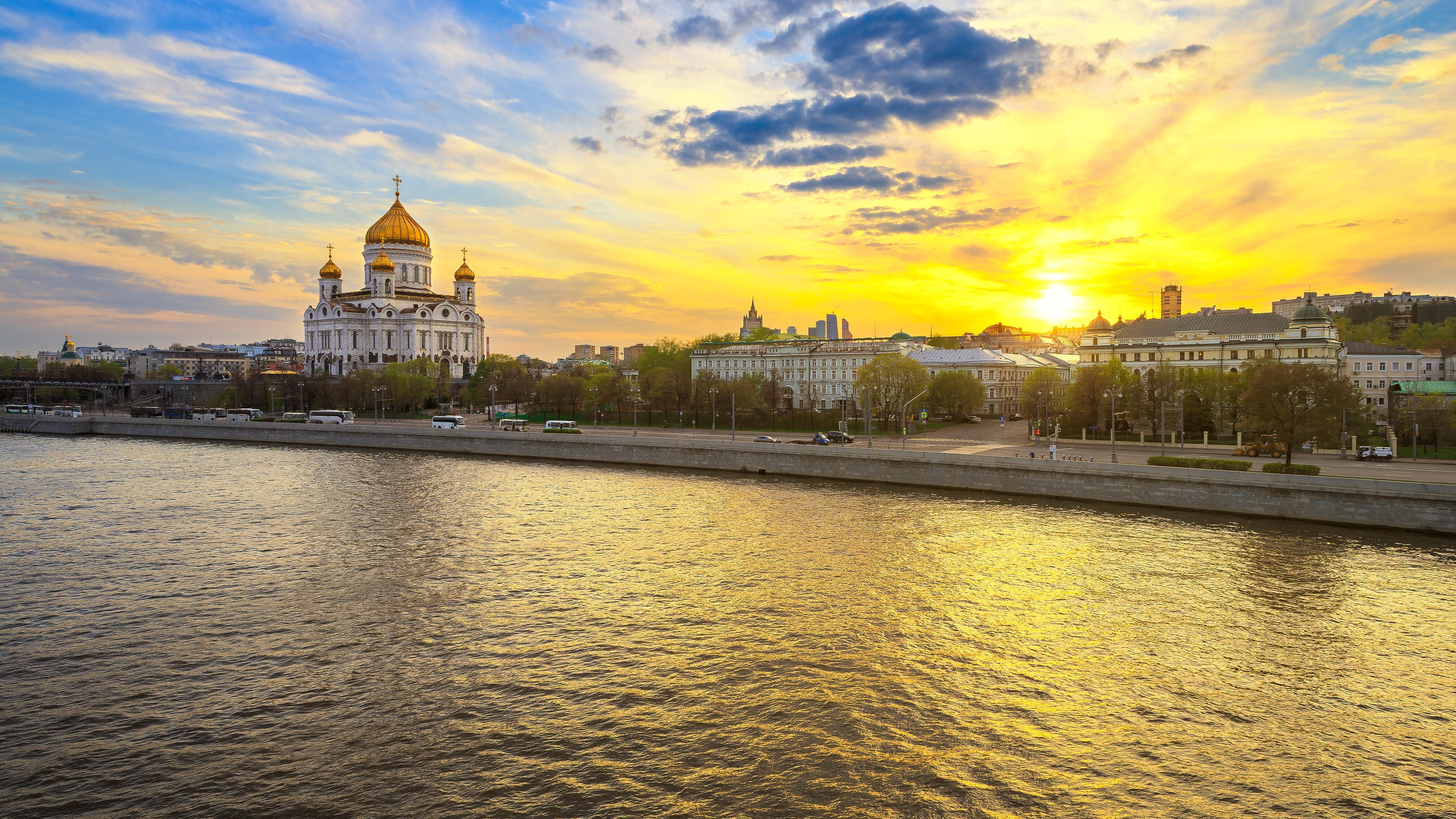 Обои Moscow, Russia Москва, Россия, собор Христа Спасителя