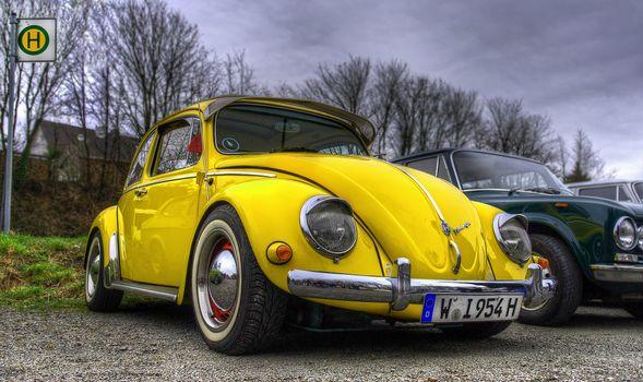 Photo free Volkswagen Beetle, yellow, cars