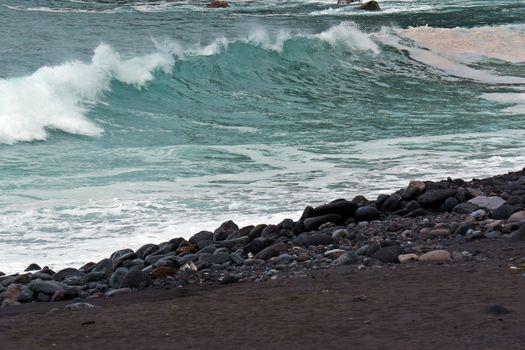Photo free atlantic ocean, beach, big waves