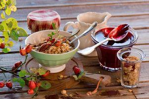 Фото бесплатно джем, завтрак, орехи