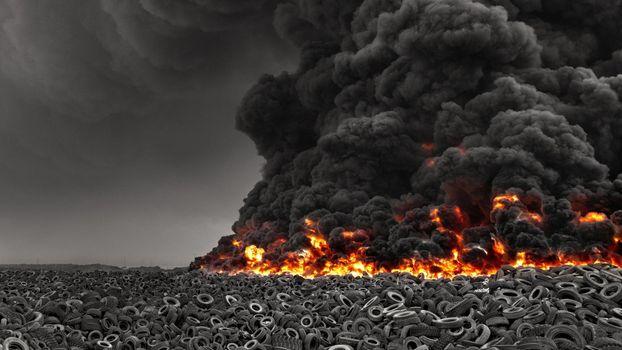 Фото бесплатно пожар, серый, дым