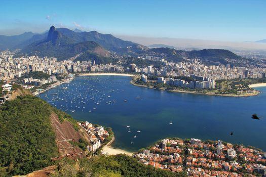 Photo free Rio de Janeiro, breathtaking view, aerial photography