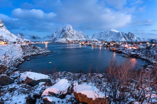 Заставка лофотенские острова, норвегия на айфон