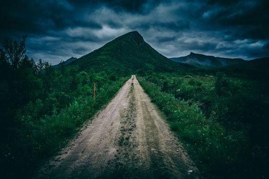 Photo free path, mountains, green