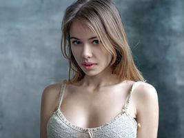 Бесплатные фото женщины,блондинка,голубые глаза,лицо,портрет,Александра Смелова,women