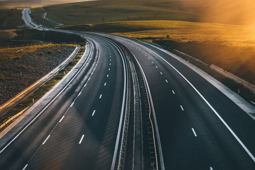 Photo free aerial view, road, track