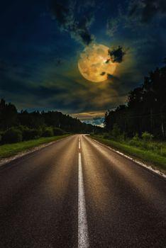 Photo free night, miscellaneous, moon