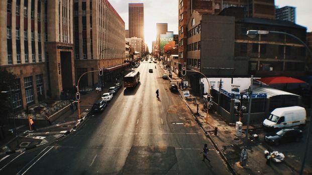 Photo free sunrise, road, traffic