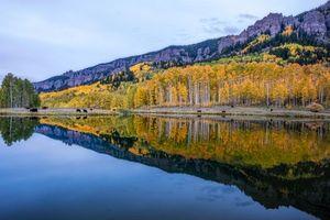 Бесплатные фото San Juan Mountains,Colorado,осень,озеро,горы,деревья,лес
