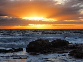 Бесплатные фото Морнингтон,Виктория,Австралия,закат солнца,горные породы,пена,волны