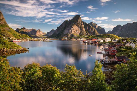 Фото бесплатно Лофотенские острова, Норвегия, Рейн