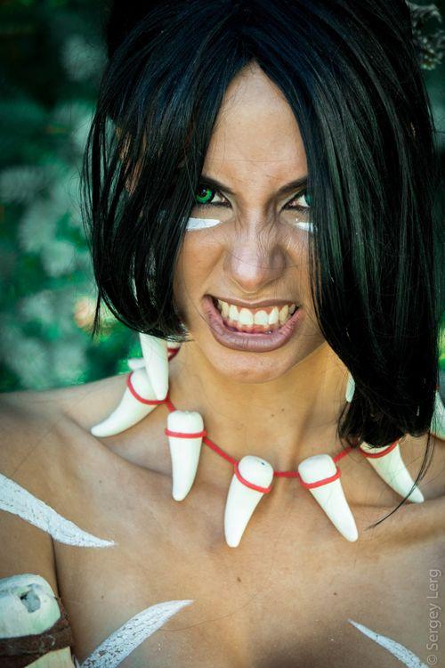 Аня Воеводова (Blue Wolf) в образе амазонки · бесплатное фото