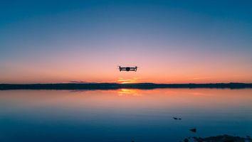 Заставки квадрокоптер, небо, горизонт