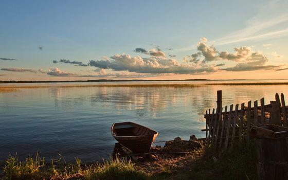 Фото бесплатно лодка, швартовки, забор