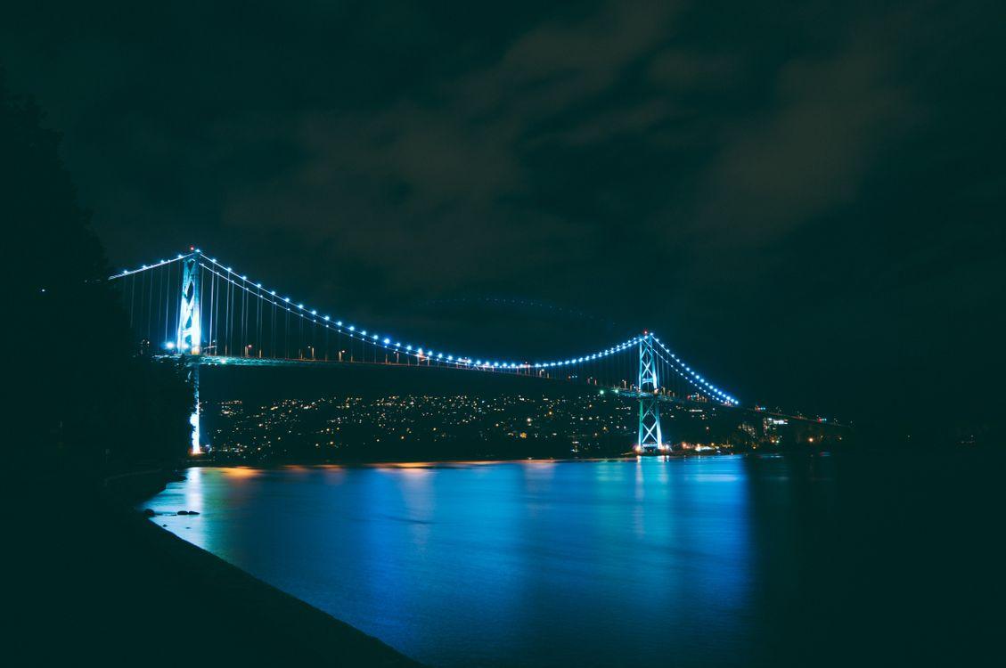 Ночной мост · бесплатное фото