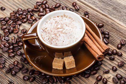 Photo free coffee, cinnamon, coffee beans