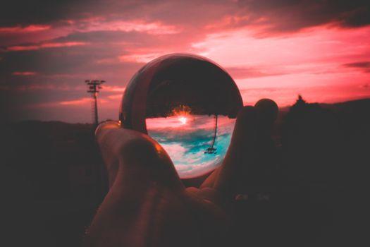 Заставки стекло, фотографии, закат