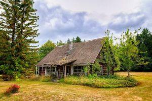 Бесплатные фото поле,дом,сад,деревья,осень,пейзаж