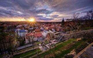 Фото бесплатно закат, город, Пирна