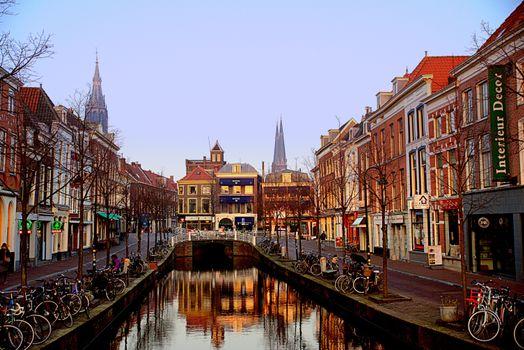 Фото бесплатно Делфт, Нидерланды, канал