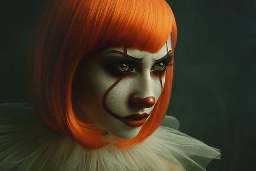 Photo free girl clown makeup, face, makeup