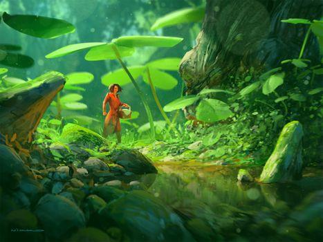 Photo free fantasy woman, forest, foliage